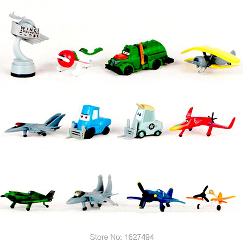 12pcs/lot Airplane Planes Dusty Cars Pixar Mini Car Toy Plane Aircraft Model Air Plane Baby Kids Cheap Toys For Boys Gift(China (Mainland))