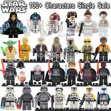 Star Wars Minifigures Single Sale R2D2 Leia Boba Fett Clone Trooper darth Vader Kylo Ren Figures Blocks Building Toys legoelieds(China (Mainland))