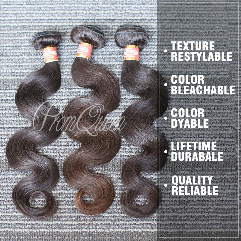 Prom Queen Hair Products 3Pcs/Lots Indian Virgin Hair Body Wave Indian Human Hair Weaves With Free Shipping(China (Mainland))