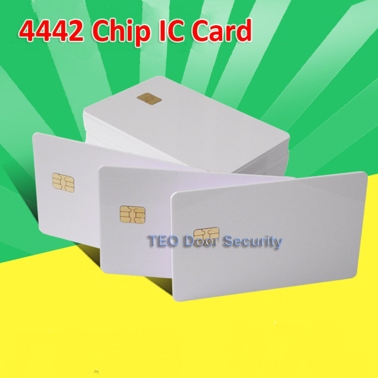 10pcs Per lot ISO 7816 White PVC Card with SEL 4442 Chip Contact IC Card Blank Contact Smart Card(China (Mainland))