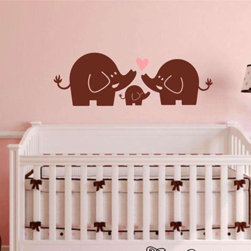 wall decal nursery elephant wall sticker baby boy or girl bedroom wall