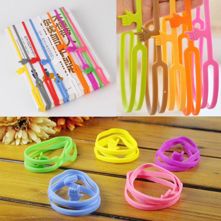 Hot Sale New Cute Silicone Finger Pointing Bookmark Book Mark Office Supply Funny Gift Drop Shipping HG-091970(China (Mainland))