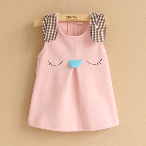 2016 spring new style girls cute cartoon bunny baby girls dress kids vest dress fashion beautiful dresses()