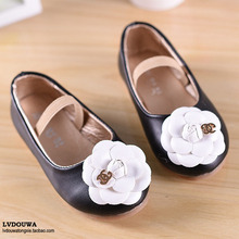 2015 spring and summer female child leather child Moccasins baby shoes princess shoes bud dance shoes children shoes(China (Mainland))