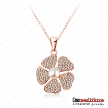 Big Sale 2015 Necklaces & Pendants White Pearl Flower Newest Necklace Female Jewelry Accessoris NL0284(China (Mainland))