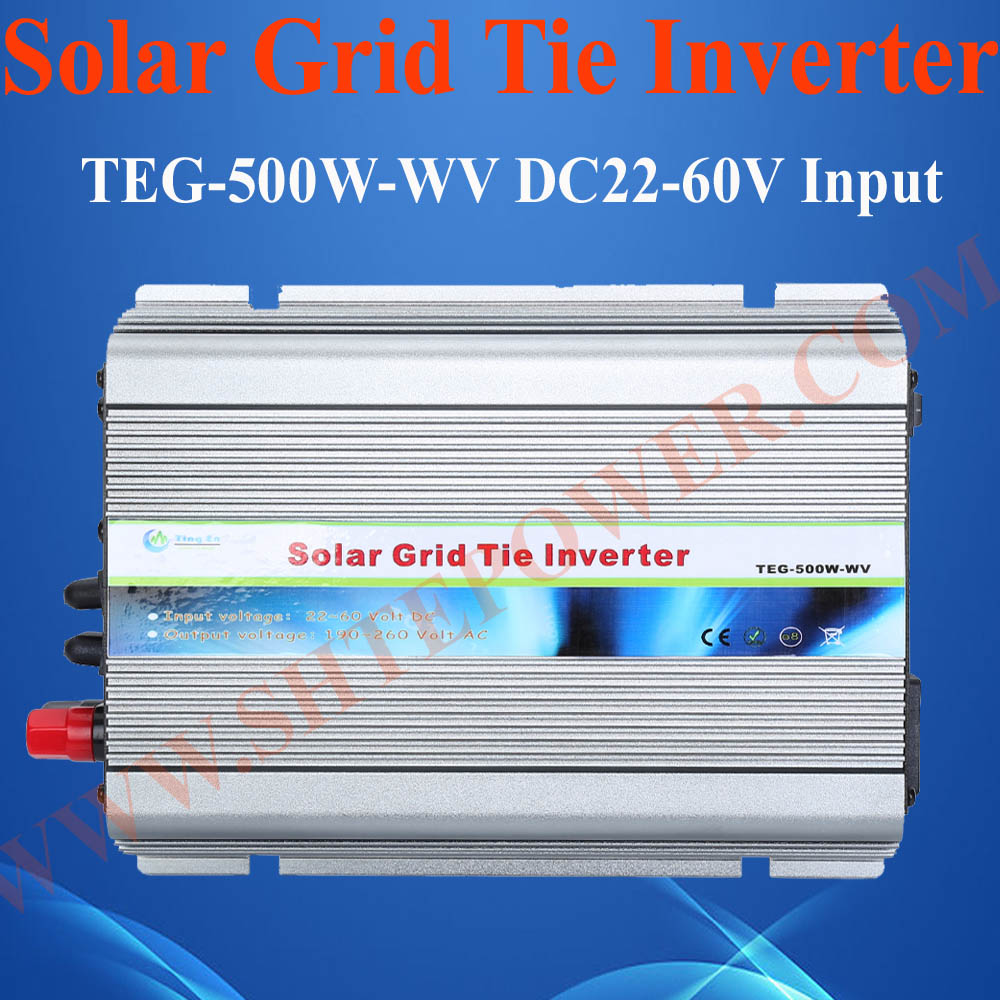 500W grid tie solar inverter, best solar panel converter, 22-60v DC to 90-130v/190-260v AC solar inverter on grid(China (Mainland))