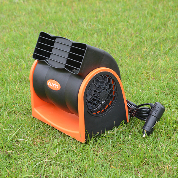 24v Orange Color Cigarette Lighter Plug Mini Portable Vehicle Fan Air Vent Cooling Truck Fan(China (Mainland))