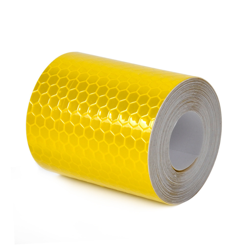 Световозвращающая пленка флуоресцентный желтый безопасности предупреждение светоотражающие ленты с шестигранной видимость светоотражающие ленты отражающей предупреждение ленты