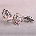 Vintage Women Flower Jewelry Sets Silver Plated Pink Acrylic Ring Earrings Set Statement Accessories African Beads