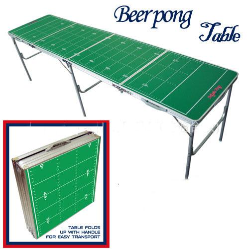 Green Portable Folding Beer Pong Table Official Beer Pong Outdoor Aluminun Folding Beer Pong Table(China (Mainland))
