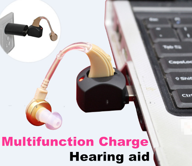 USB rechargeable BTE hearing aid China 2015 New tech charging hearing aids in compute for the elderly(China (Mainland))