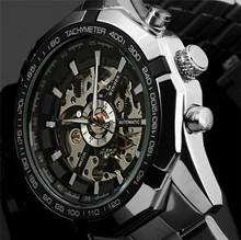 2016 New Winner Luxury Sport Clock Men Automatic Watch Skeleton Military Watch Mechanical Relogio Male Montre Watch Mens Relojes(China (Mainland))
