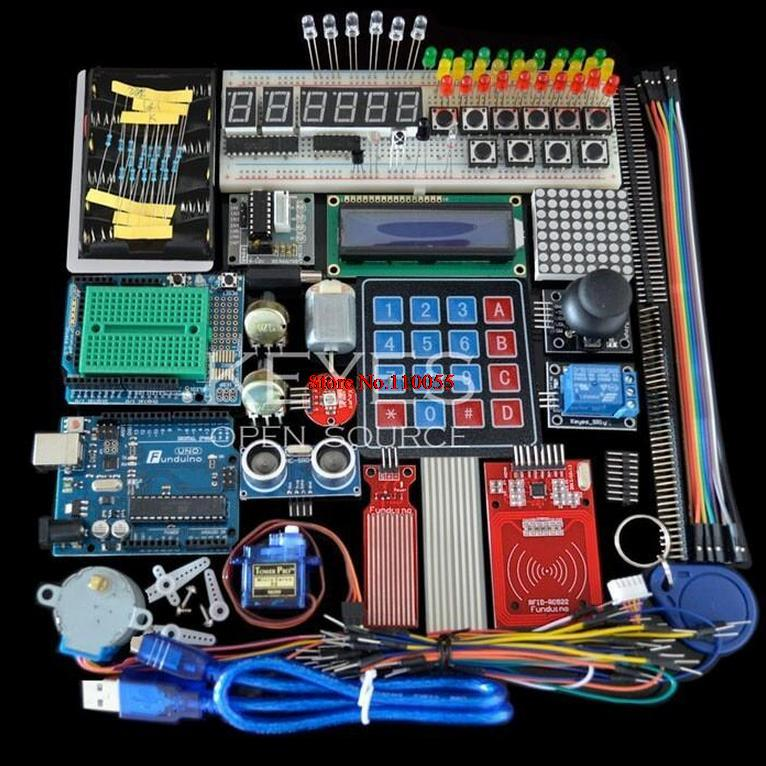 Starter Kit arduino Uno R3 Uno R3 Breadboard holder Step Motor / Servo /1602 LCD / jumper Wire/ UNO R3