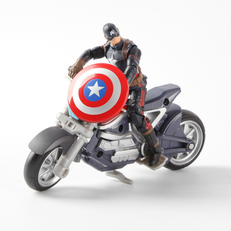 Free shipping Avengers Captain America 3 Series toy model US Civil War team motorcycle suit joint movable model ornaments ZK-099(China (Mainland))