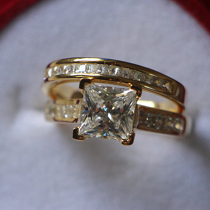 tg gold wedding ring sets