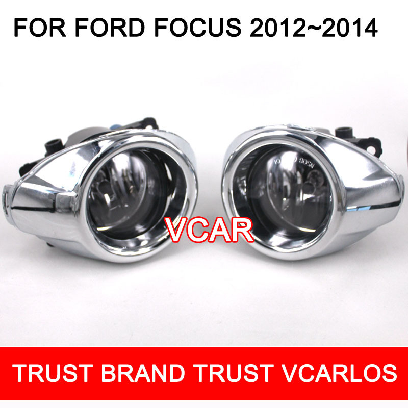 high quality halogen fog lights lamp set for Ford Focus sedan 2012 - 2014 with clear lens wiring kit(China (Mainland))