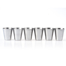 Happy home New 3.6*4.2cm Stainless Stell Shot Glass Wine Cup 6pcs Stainless Steel Cup Drinking Coffee Tea Tumbler Camping Mug
