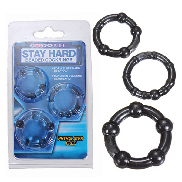 3pcs Adult Men Endurance Glans Cock Ball Triple Penis Silicone Ring Sex Aid Products Toy Kit Tool(China (Mainland))