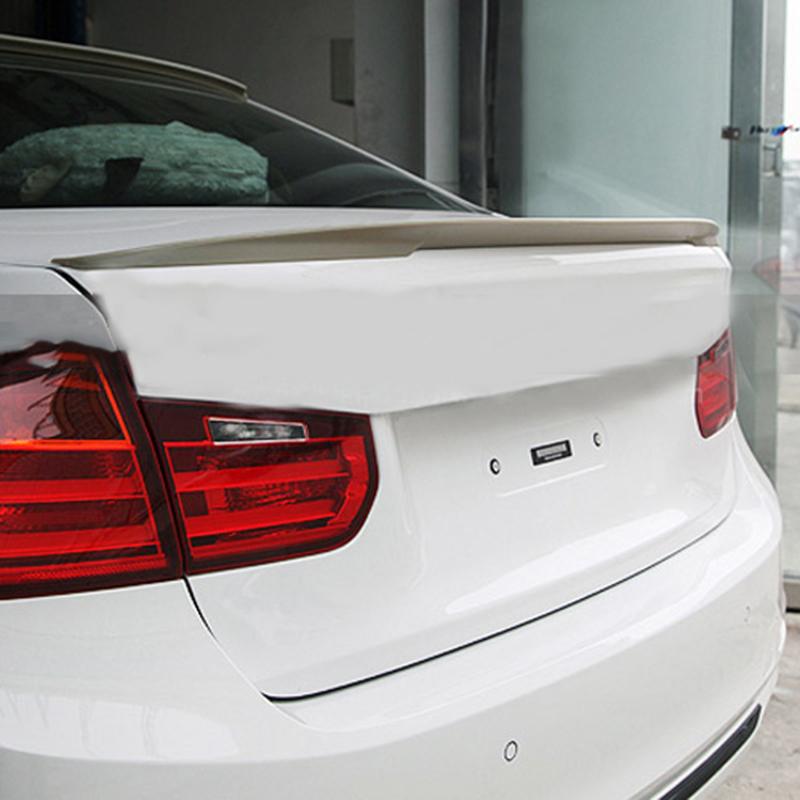 Фотография Car Styling PU Rear Wing Lips Spoiler Trim Sticker Without Paint For BMW 320Li 328Li 335Li F30 F35 2012 2013 2014 2015 Trunk Lip