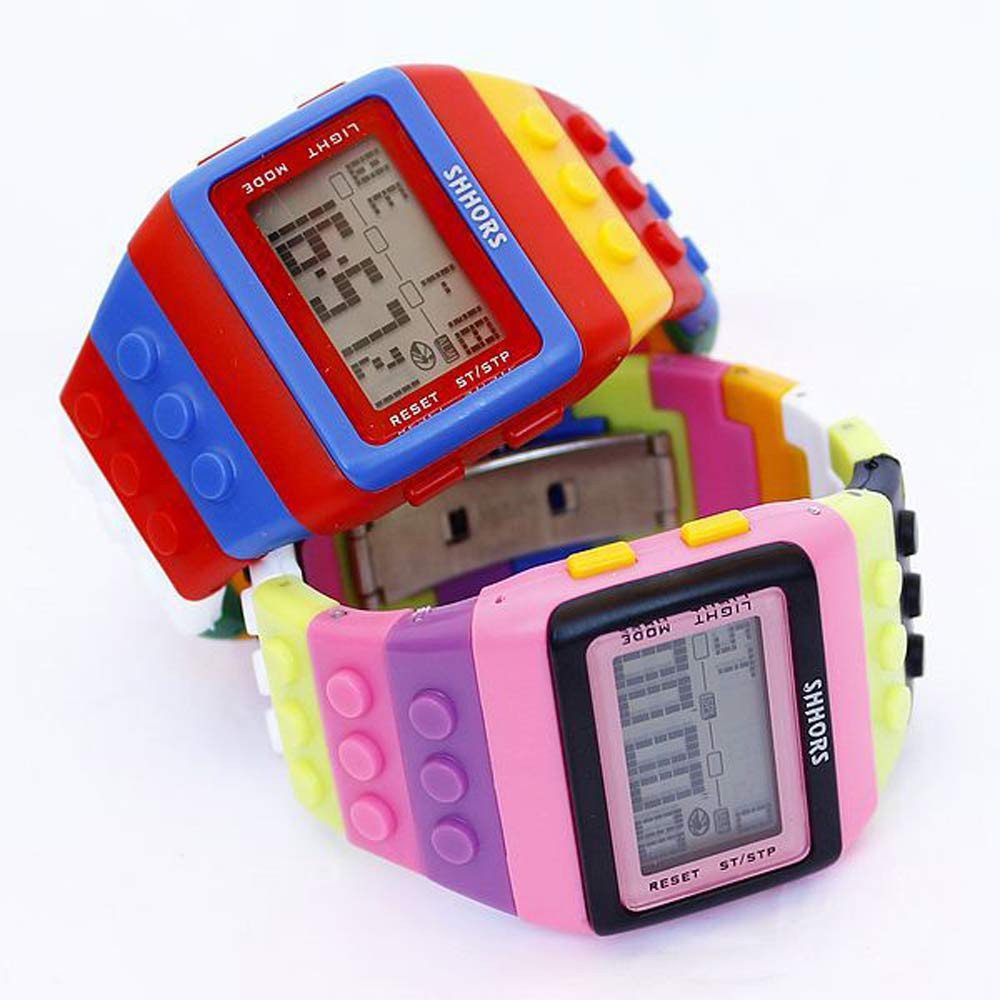 Scolour New Fashion Design Colorful Children Kid Boy Girl LED Silicone Band Digital Watch Casual Relogio Clock Gift FreeShipping