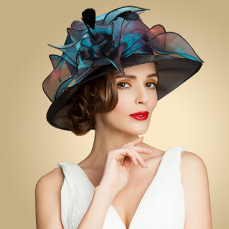 Aliexpress.com : Buy new Women British Style organza hat ...