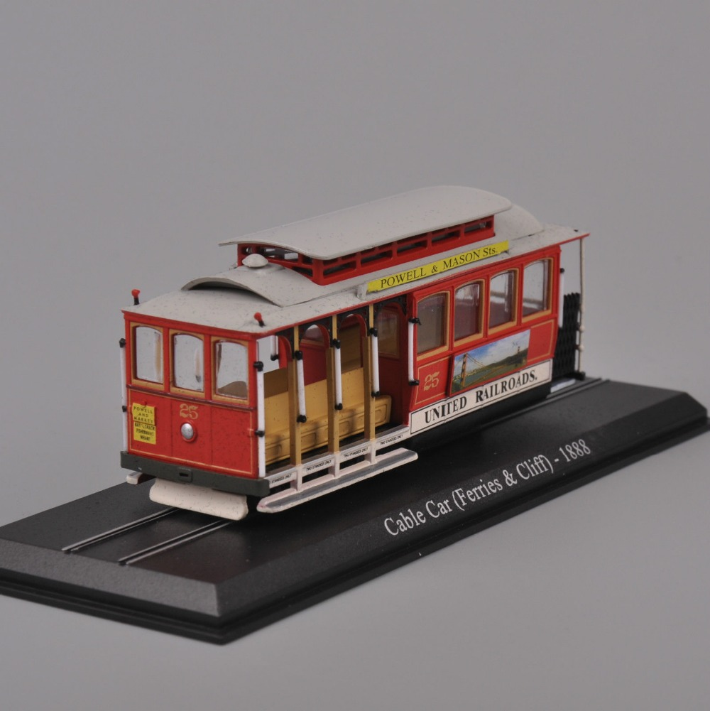 Atlas 1/87 Scale Cable Car Bus Tram United Railroads Ferries Cliff 1888 Diecast Model Toys For Kid Gift F(China (Mainland))