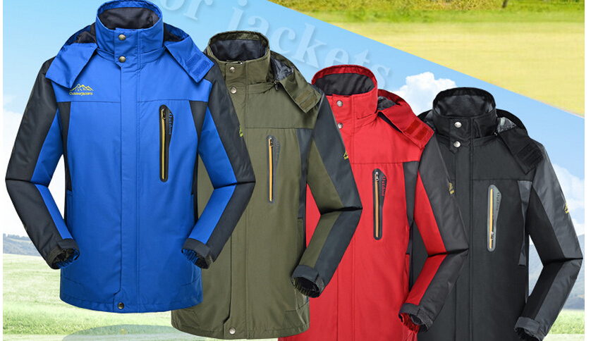 8XL Men Outdoor Jackets Add Fertilizer Increasede Hooded Waterproof Breathable Jacket 2015 New Mens Large Size L-8XL Plus SizeОдежда и ак�е��уары<br><br><br>Aliexpress