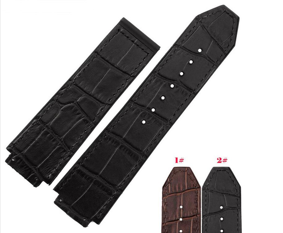 New Men 25mm Top Grade Black Brown Rubber Replacement Diver Watch Band Strap Bracelets for 44-45mm Brand free shipping<br><br>Aliexpress