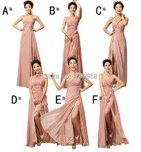 Cheap Custom made! Mix style long Split Bridesmaid Dresses colors wedding dress, Prom Dress party dress women Vestidos(China (Mainland))
