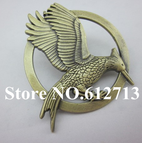 2014 Wholesale 30pcs/lot New Designer Katniss Movie 2 The Hunger Games Catching fire Christmas PIN Brooches Brooch Free Shipping(China (Mainland))