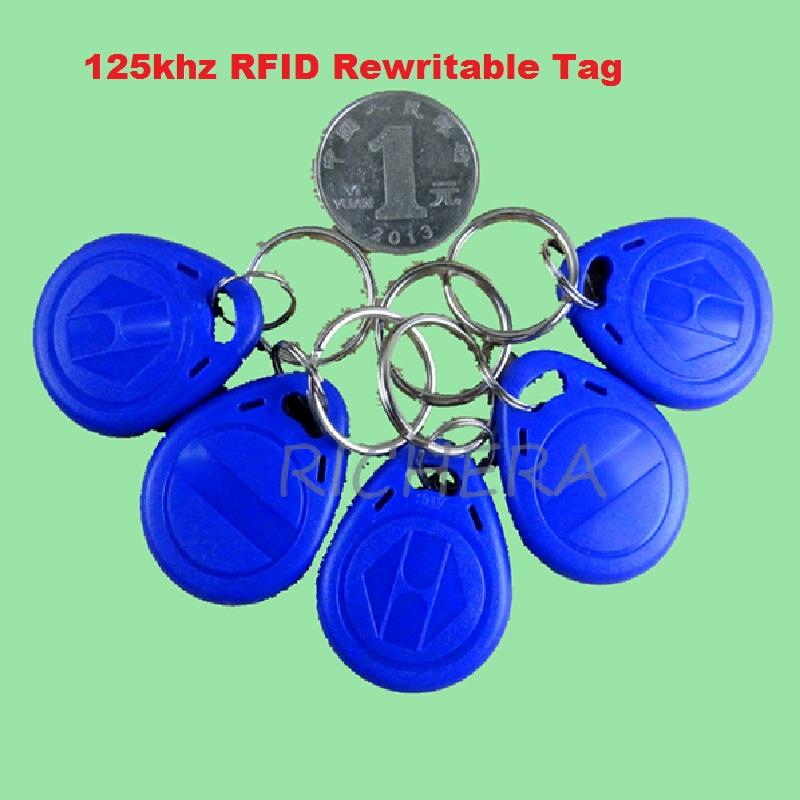 USB 125khz RFID Read Writer Duplicator Copier Duplicate Compatible EM4100 EM4305 T5577 Rewritable Card 5pcs Writable