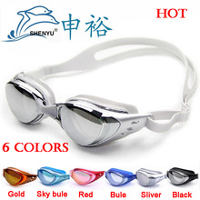 anti-fog anti-ultraviolet swimming goggles men and women unisex coating swimming glasses adult goggles,free ship(China (Mainland))