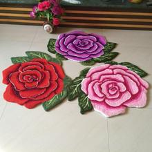 Hot sales high quality beautiful /fashion romantic rose art carpet /floor mats/art rug for bedroom 80*60cm(China (Mainland))