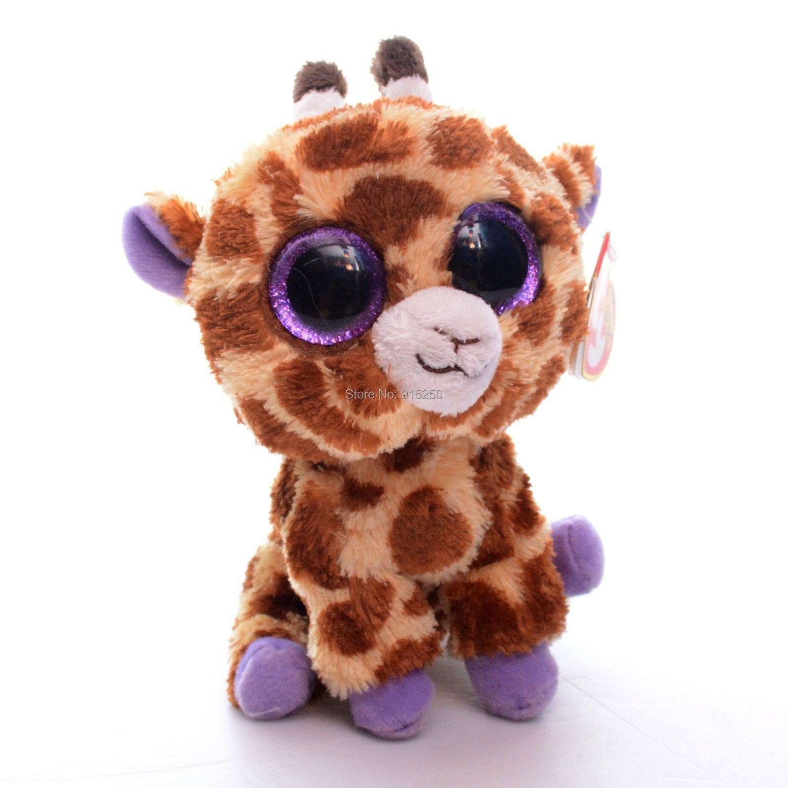 Free Shipping 5'' Original TY Collection Brown SAFARI Giraffe Plush Toys Small Keychain Kids Doll Stuffed Animals Toy #LN(China (Mainland))