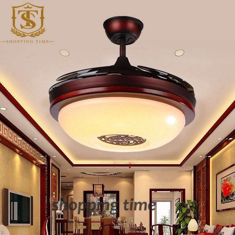 chinese style small 32inch ceiling fan light invisible blades fan lamp 3005A<br><br>Aliexpress