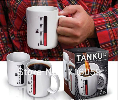FREE SHIPPING creative thermometer cup color changing coffee mug temperature magic tank cup(China (Mainland))