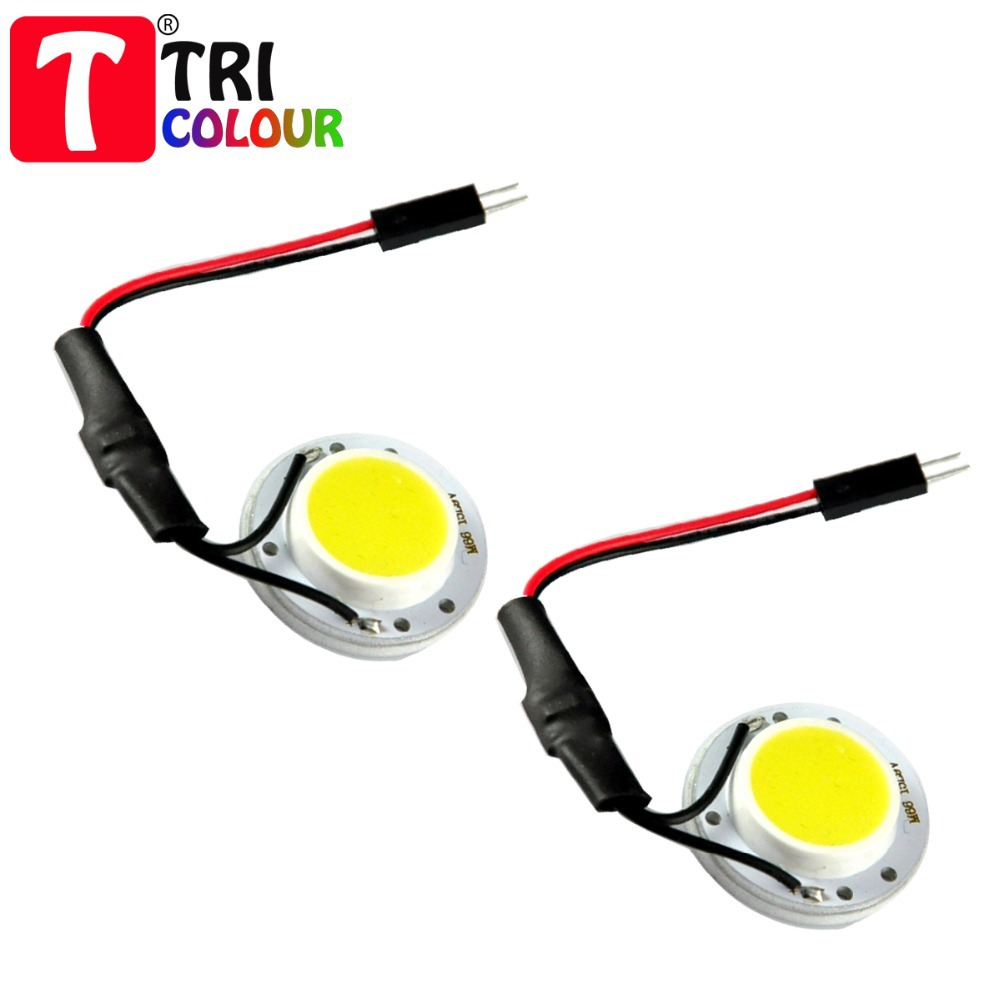TRICOLOUR 10x Universal dome light 5W COB 15 smd Chips LED Car Interior reading Light with T10 Festoon ba9s Adapter #LL28(China (Mainland))