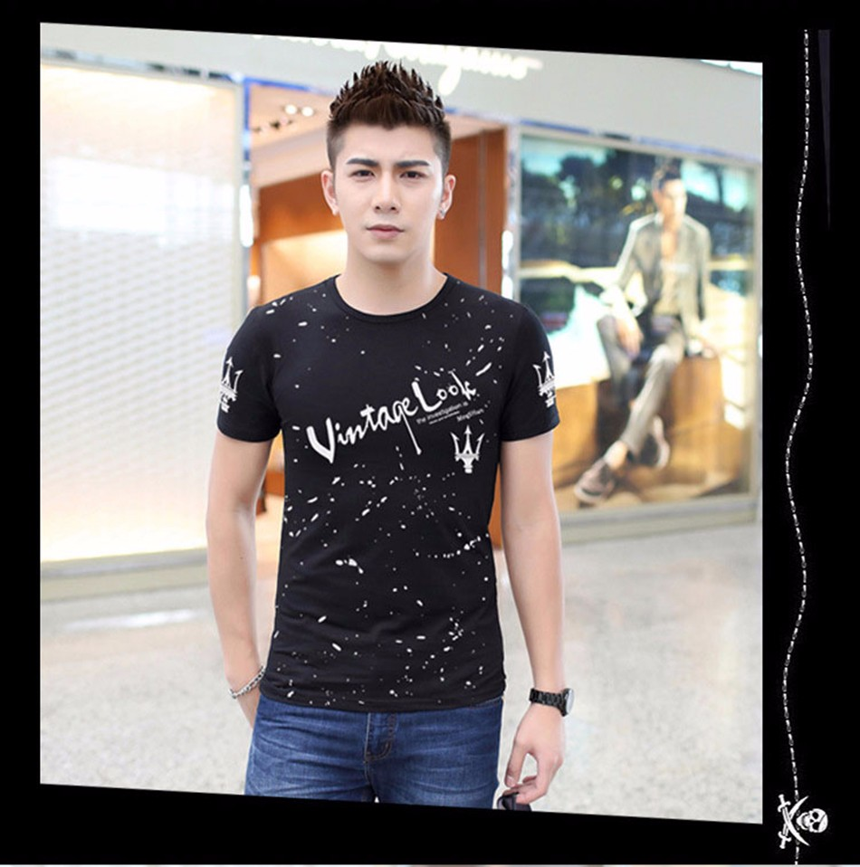 2016 Spring Summer Fashion Trend Men Outdoor Leisure Short-Sleeved T Shirt Breathable Sport T-shirt Prints Funny T Shirts