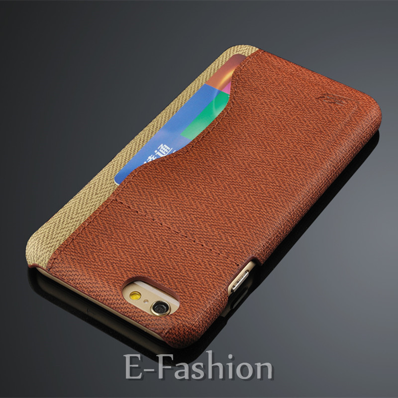 Luxury Brands Skin PU Leather Fiber Case For iPhone 6 6s plus with Card Holder Back Cover Apple 6 Back Case Unique Design(China (Mainland))