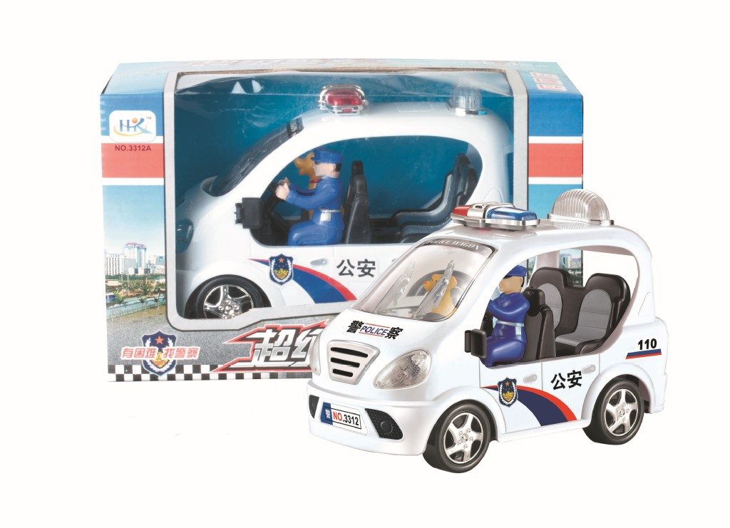 Free shipping Supercars lights universal children's toys police car(China (Mainland))