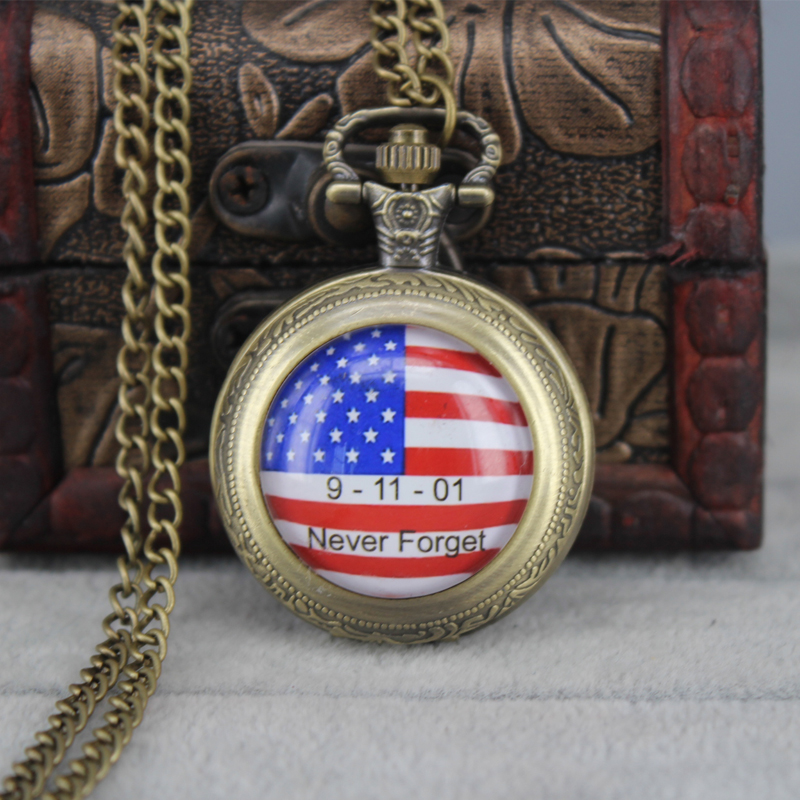 popular watches men usa buy cheap watches men usa lots from diy steampunk american usa flag pocket watch necklace pocket watches for women men never forget 911