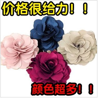 Wholesale chiffon big flower corsage brooch silk flower hairpin hair accessory handmade flower 20pieces/LOT(China (Mainland))