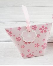 10pcs light pink sakura Cherry Blossom Paper Box Candy Storage Boxes Gift Packaging wedding birthday party favor box multi-use(China)