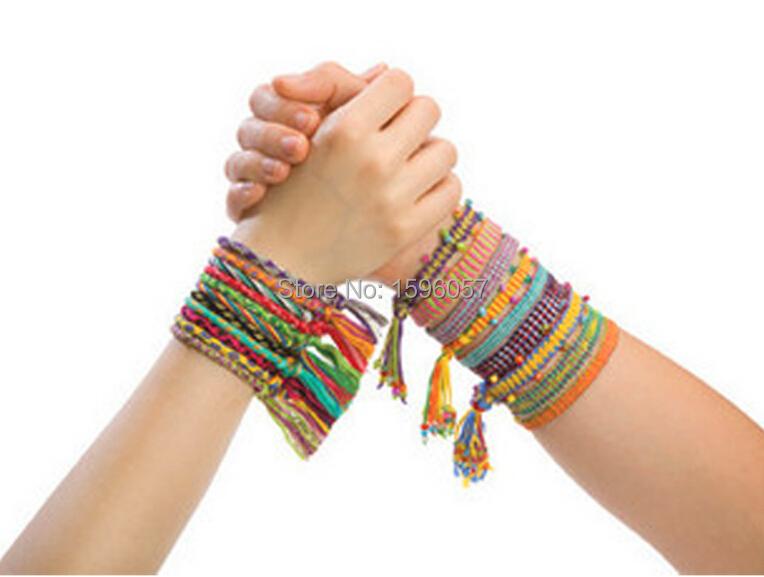 DIY Friendship Knit Bracelet Band Bead Jewelery Making Utilities Educational toy Gift for Girls(China (Mainland))