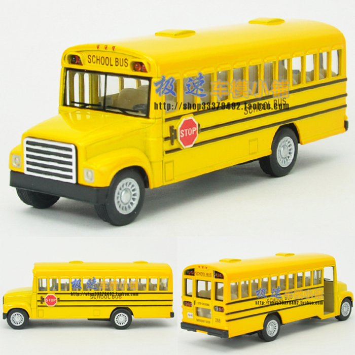 Soft world 13-year-old bus school bus WARRIOR alloy car model(China (Mainland))