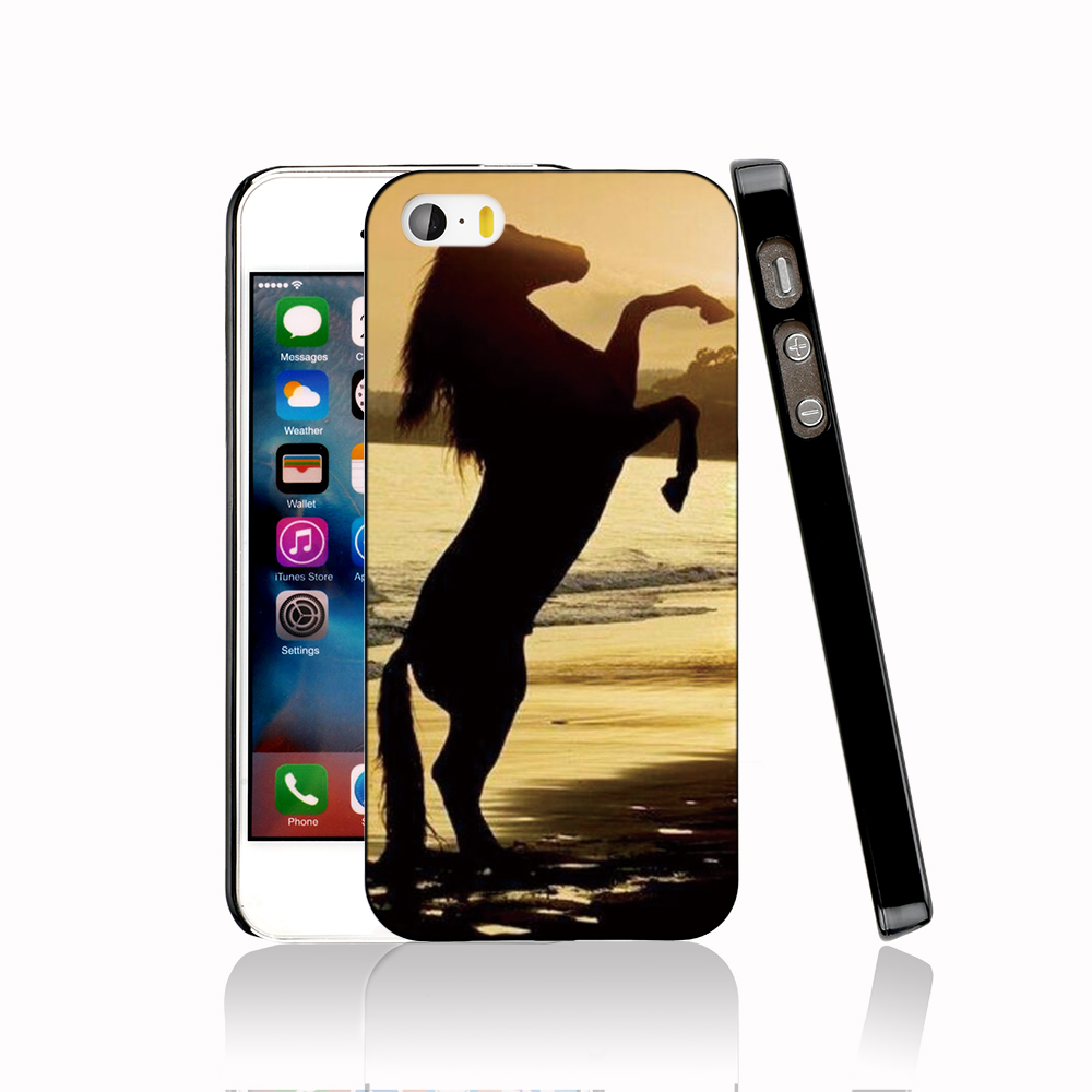 13732 Horse on beach protective Cover cell phone Case for iPhone 4 4S 5 5S 5C SE 6 6S Plus 6SPlus(China (Mainland))