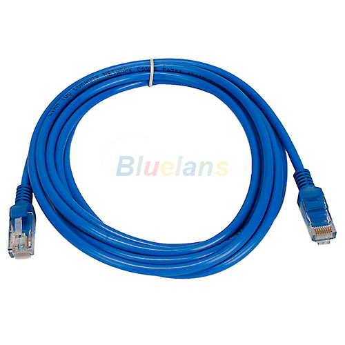 16FT Ethernet Cable Blue CAT5 CAT5E RJ45 Network Ethernet Patch Cord Lan Cable RJ-45 1J4T(China (Mainland))