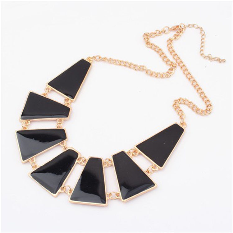 Free shipping enamel collar necklaces jewellery fashion heavy chunky flexible metal necklace(China (Mainland))