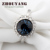 ZHOUYANG Top Quality Moon Rever Crystal Ring  K Gold Plated  Austrian Crystals Full Sizes Wholesale ZYR191 ZYR297