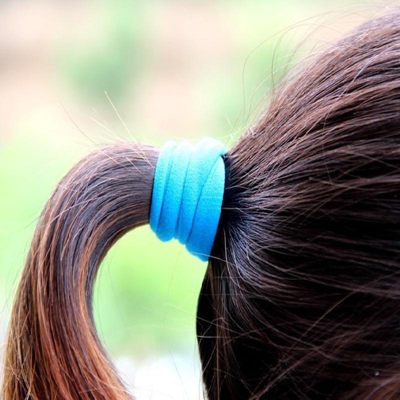 10 Pcs / Pack Ts Hair Accessory Basic None Seam Tousheng Ultra High Elastic Rubber Band Hair Rope Headband(China (Mainland))